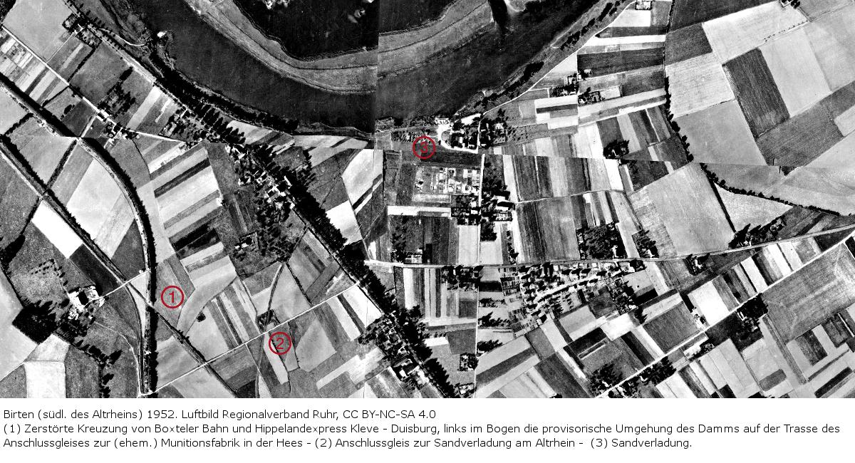 Luftbild Birten 1952