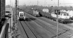 Blick vom Stellwerk Millingen-Ost über den Übergabebahnhof zur Solvay