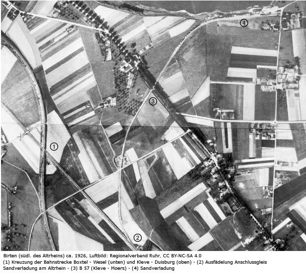 Luftbild Birten Ende der zwanziger Jahre