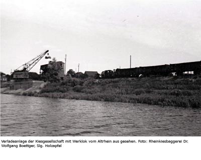 Verladeanlage Birten vom Altrhein aus gesehen