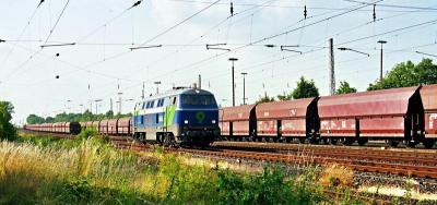 Niag Lok 9 durchfährt Rheinkamp